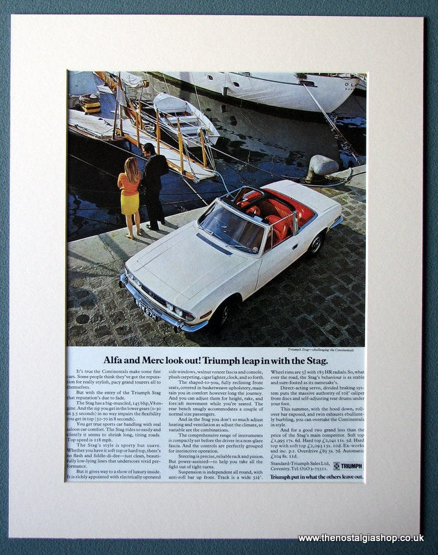 Triumph Stag 1970 Original Advert (ref AD1246)