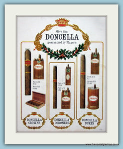 Doncella Cigars Original Advert 1964 (ref AD6136)