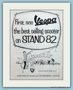 Vespa At Earls Court Original Advert 1956 (ref AD4180)
