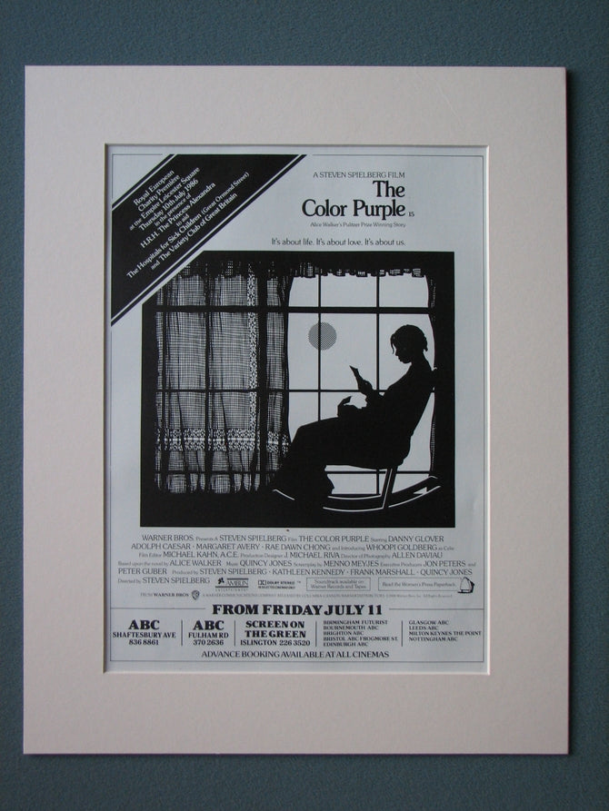 The Color Purple Original Advert 1986 (ref AD523)