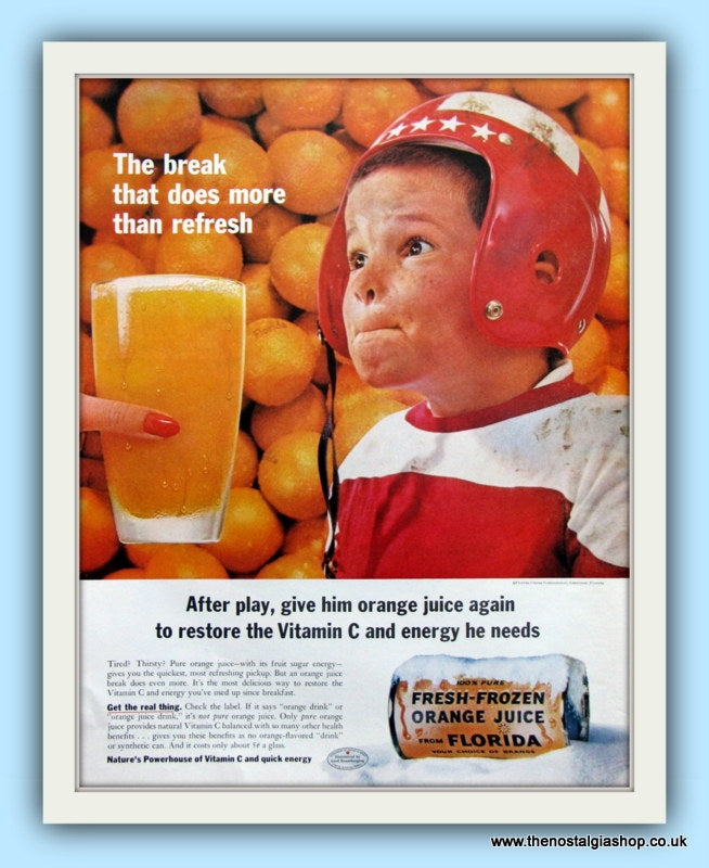 Fresh Frozen Orange Juice. Original Advert 1960 (ref AD8114)