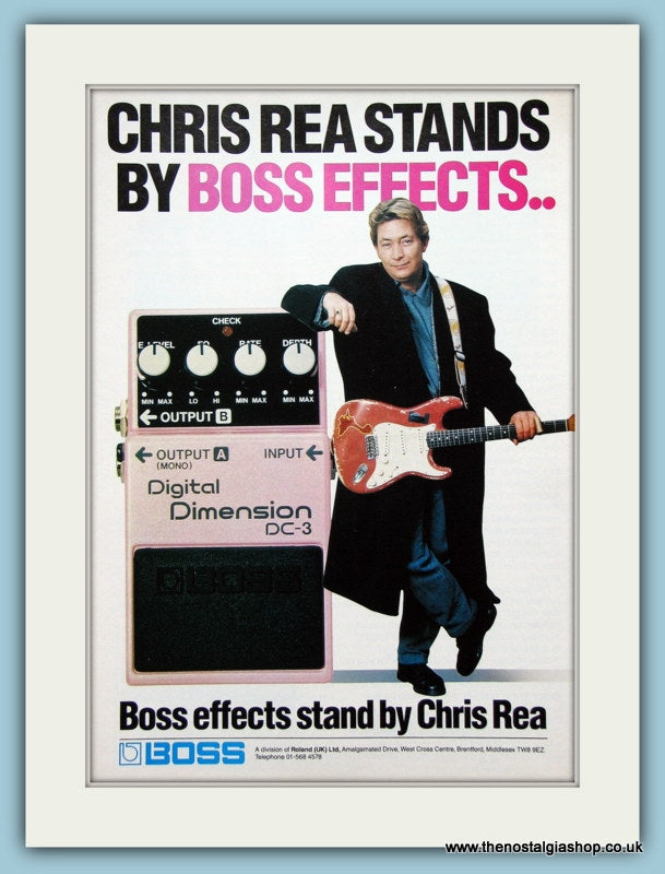 Boss Effects Stand by Chris Rea. Original Advert 1989 (ref AD2691)