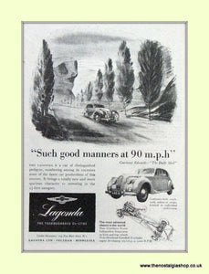 Lagonda Aston Martin Original Advert 1951 (ref AD6696)