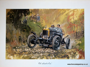 MG Old Number One. Classic Large Car Print.