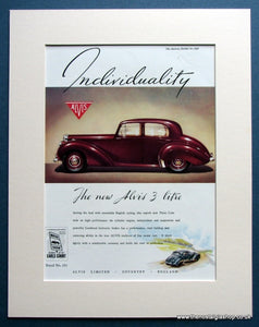 Alvis 3 Litre 1950 Original Advert (ref AD1460)