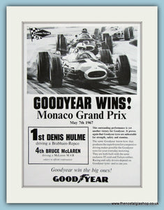 Monaco Grand Prix Winner Denis Hulme Original Advert 1967 (ref AD1996)