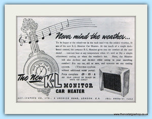 K.L Monitor Car Heater Original Advert 1952 (ref AD5043)