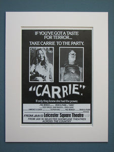 Carrie 1977 Original advert (ref AD612)
