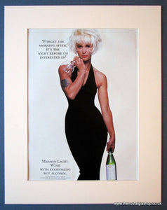 Masson Light Wine. Paula Yates. Original advert 1986 (ref AD1204)