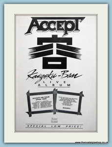 Accept, Kaizoku - Ban 1986 Original Advert (ref AD3173)