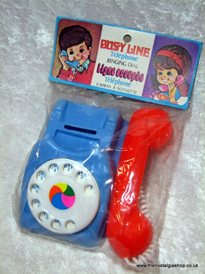 Busy Line, Child's Telephone Toy. Un-opened. (ref Nos041)