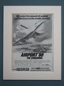 Airport 80 The Concorde 1980 Original advert (ref AD680)