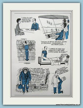 Load image into Gallery viewer, R.A.F Cartoon Set Of 2 Original Adverts 1978 (ref AD6305)