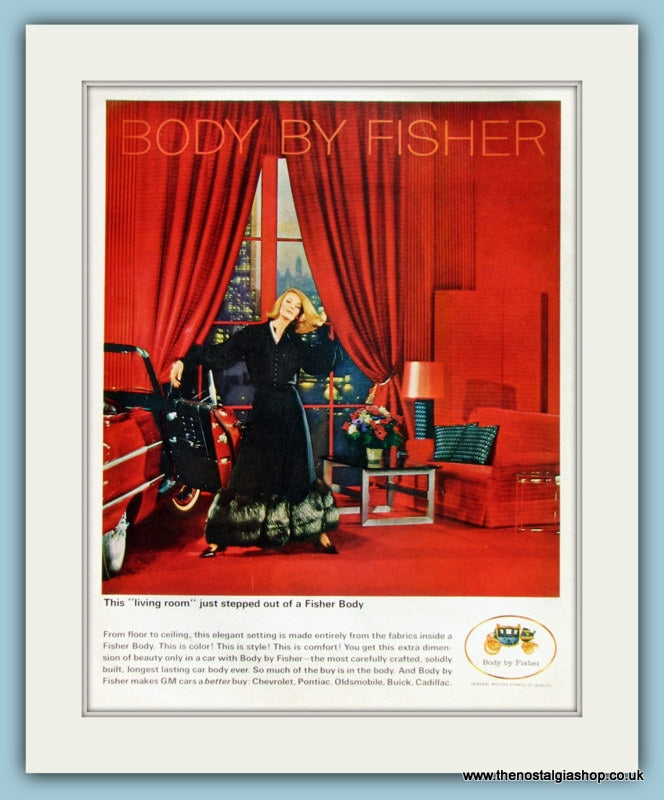 Body By Fisher Original Advert 1964 (ref AD8284)