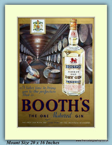 Booth's Gin Original Advert 1937 (ref AD9414)