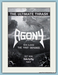 Agony The First Defiance 1988 Original Advert (ref AD3076)