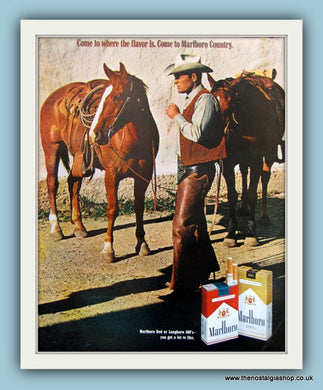 Marlboro Cigarettes. Original Advert 1970 (ref AD8147)