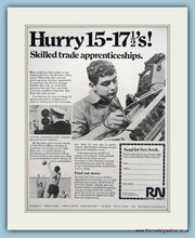 Load image into Gallery viewer, Royal Navy Apprenticeships. Set of 2 Original Adverts 1969 (ref AD6062)