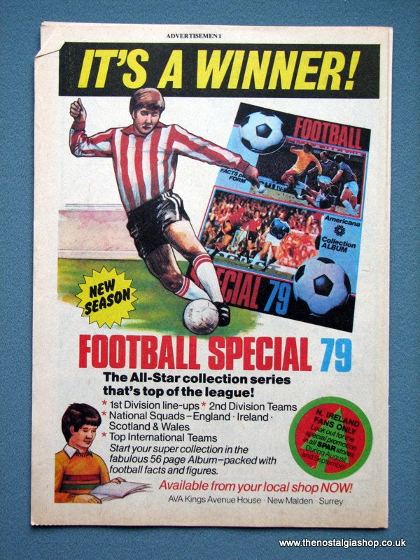 Football Special 79 Album Original Advert 1979 (ref AD2660)