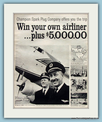 Win Your Own Airliner. Original Advert 1961 (ref AD8266)