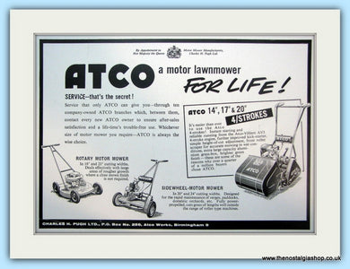 Atco Lawnmowers. Original Advert 1960 (ref AD4635)