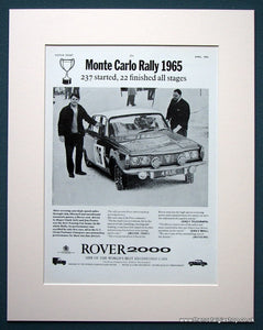 Rover 2000 Rally 1965 Original Advert (ref AD 1110)