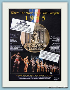 Mr Olympia I.F.B.B Weiders Original Advert 1985 (ref AD3925)