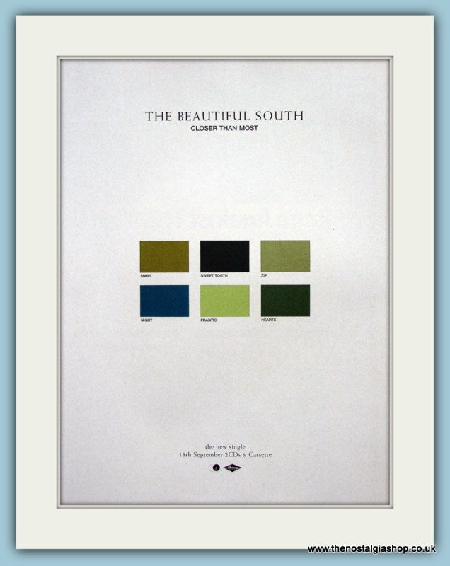 The Beautiful South Closer Than Most Original Music Advert 2000 (ref AD3430)