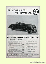 Load image into Gallery viewer, AC Two Litre. set of 2 Original Adverts 1937 (ref AD6610)