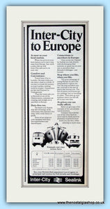 Inter-City Sealink Original Advert 1973 (ref AD6537)