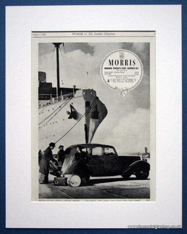 Morris Twenty-Five (Series III) Original advert 1938 (ref AD1349)