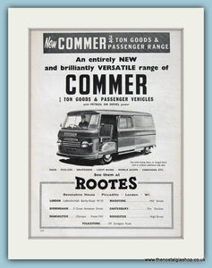 Commer 3/4 Ton Goods & Passenger Vehicles Original Advert 1960 (ref AD2983)