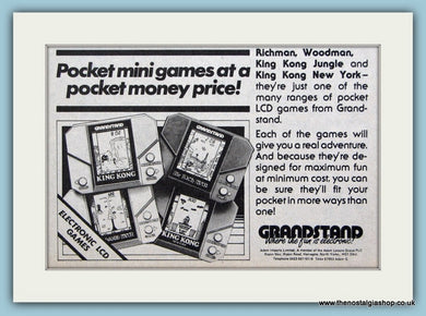 Grandstand Electronic Games 1983 Original Advert (ref AD6414)