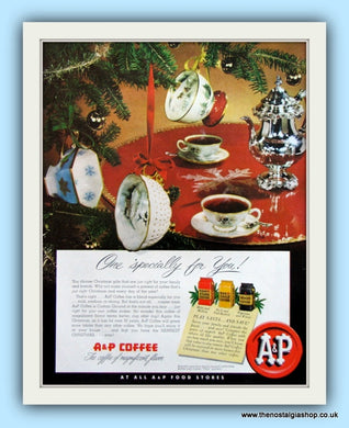 A & P Coffee. Original Advert 1951 (ref AD8112)