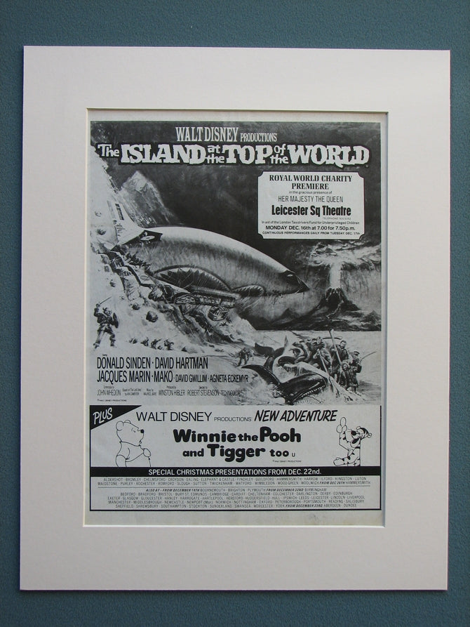 The Island At The Top Of The World 1975 Original advert (ref AD645)
