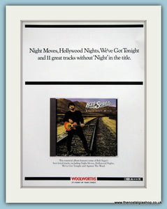 Bob Seger Greatest Hits 1995 original Advert (ref AD3324)
