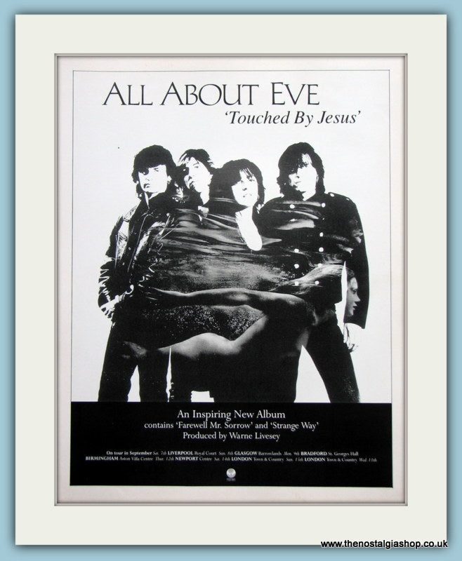 All About Eve Touched By Jesus 1991 Original Advert (ref AD3066)