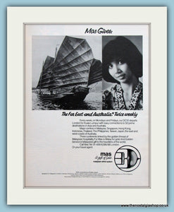 Malaysian Airline Original Advert 1979 (ref AD2166)