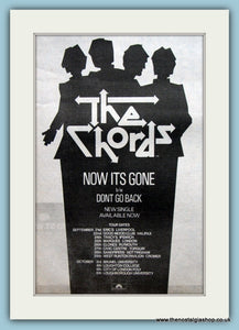 The Chords. Now Its Gone. 1979 Original Advert (ref AD2111)
