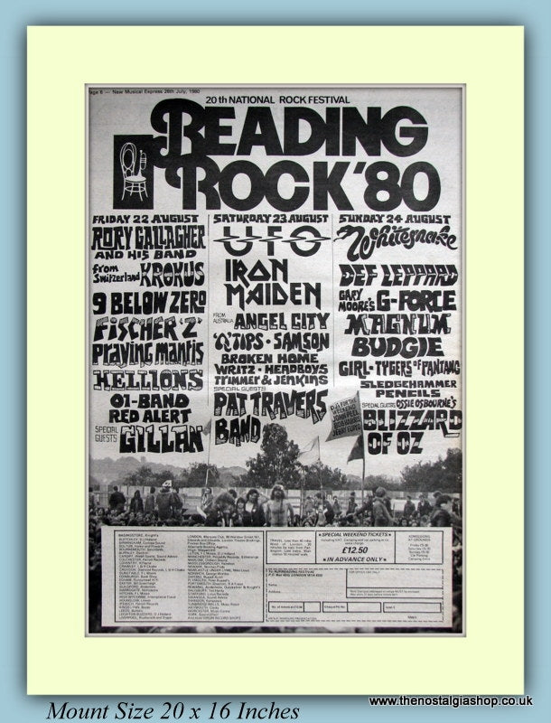 Reading Rock Festival 1980 Original Advert (ref AD9123)