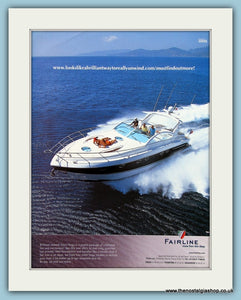 Fairline Power Boat Original Advert 2004 (ref AD2324)