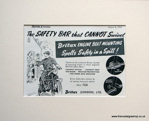 Brittax Engine Bolt Mounting. 1953 Original advert (ref AD1597)