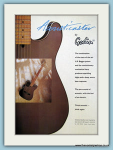 Acousticaster Guitar by Godin. Original Advert 1991 (ref AD2696)