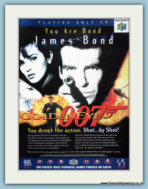 James Bond Golden Eye Original Advert 1997 (ref AD4039)