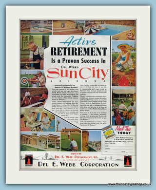 Sun City Retirement Original Advert 1961 (ref AD8277)