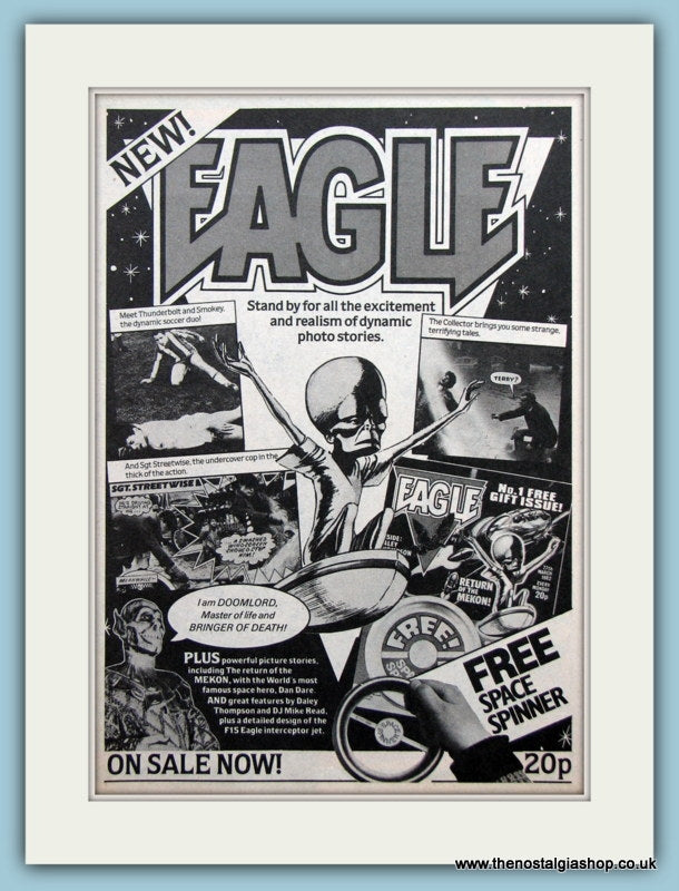 Eagle Magazine Original Advert 1982 (ref AD2628)