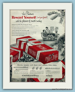 Pall Mall Cigarettes. Original Advert 1955 (ref AD100212)