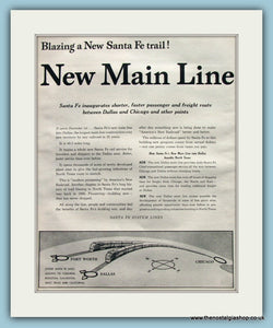 Santa Fe Railroad. Original Advert 1955 (ref AD8265)