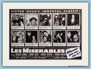 Les Miserables, 1952 Original Advert (ref AD3227)