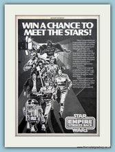 Load image into Gallery viewer, The Empire Strikes Back Star Wars And Competition Set Of 2 Original Adverts 1982 (ref AD6468)